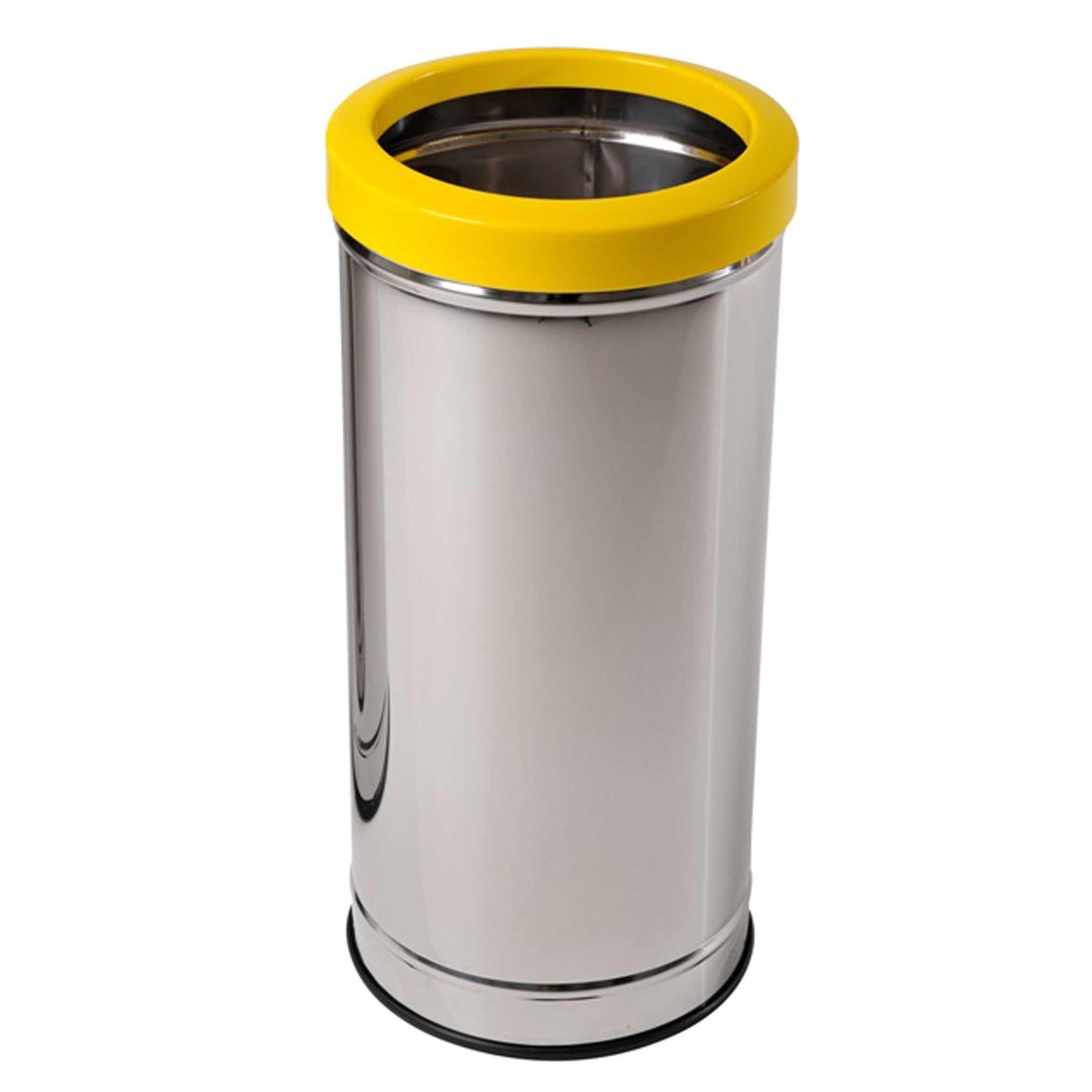Lixeira Inox com Aro Plástico - JSN