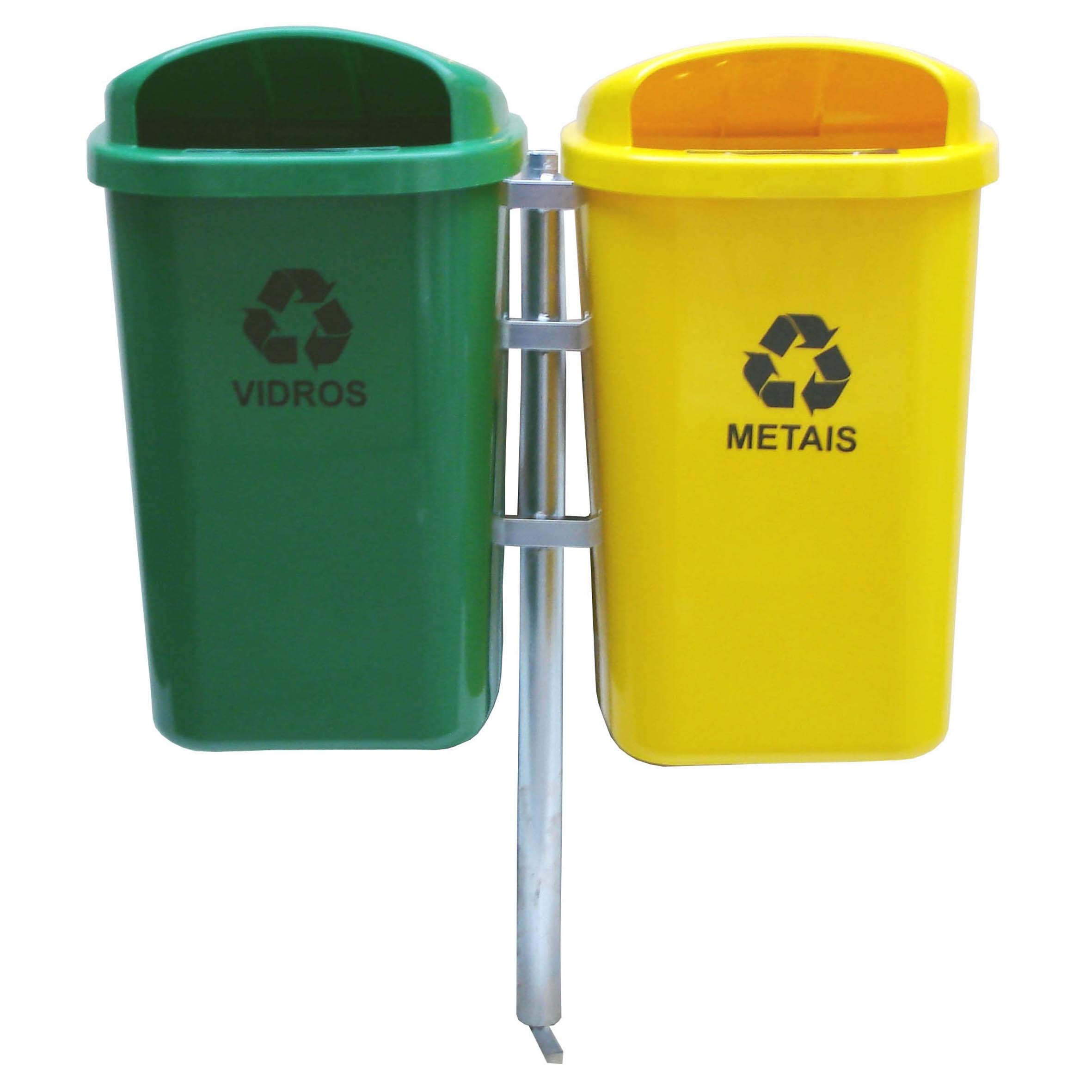 Conjunto para Coleta Seletiva com 2 cestos de 50 litros - JSN