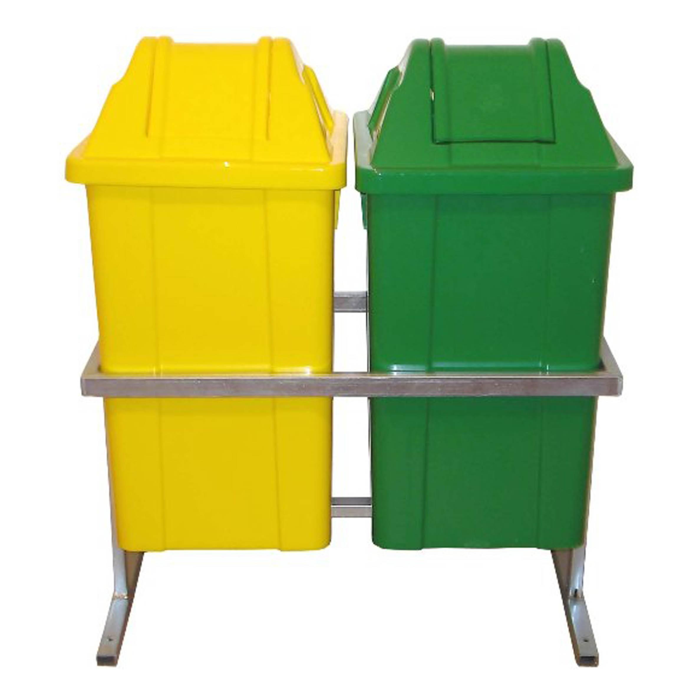 Conjunto para Coleta com 2 Cestos Quadrados de 60 litros - JSN