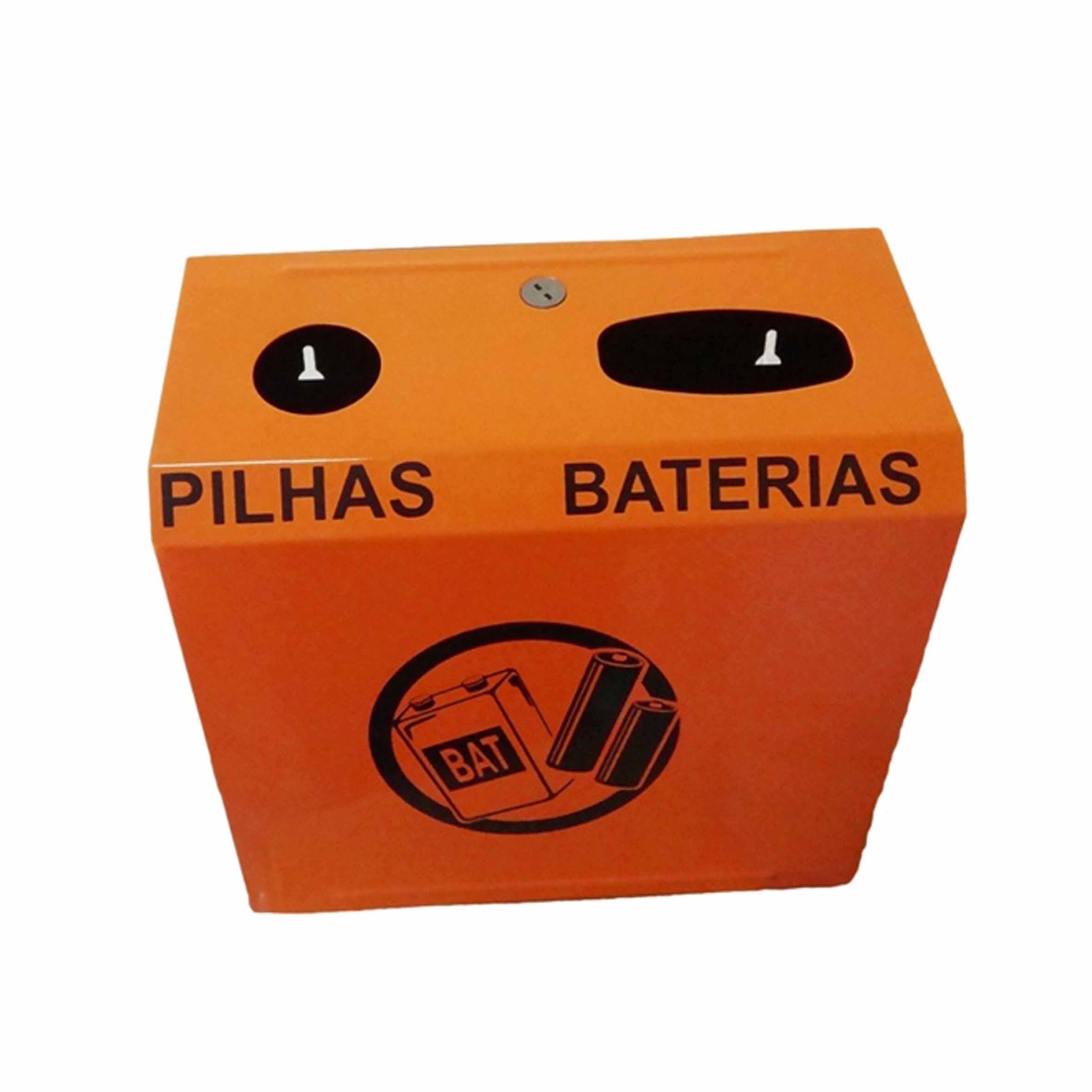 Suporte de Parede para Descarte de Pilhas e Baterias - JSN