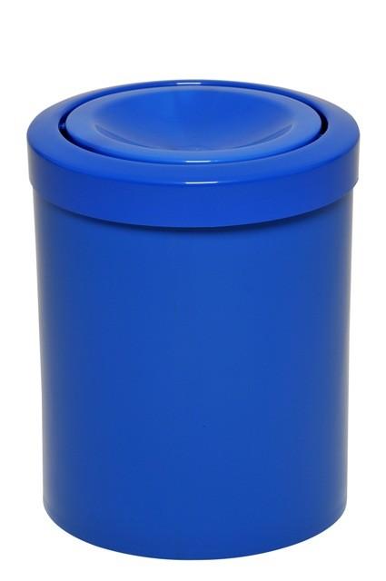 Lixeira com Tampa Meia Esfera em Plástico - Azul