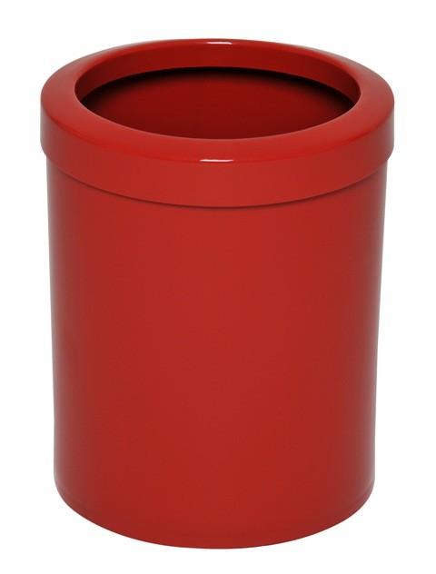 Cb38 - Cb38a - Lixeira com Aro em Plástico - Vermelho