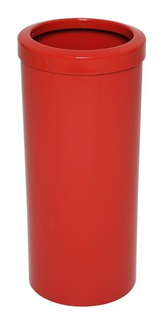 Cb39 - Cb39a - Lixeira com Aro em Plástico - Vermelho
