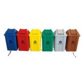 Conjunto para Coleta com 6 Cestos Quadrados de 100 litros - JSN